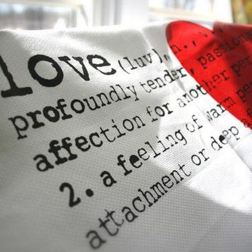 Definition Of Love Tea Towel Heart Screen Printed by SuiteHeart