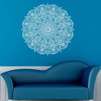 Namaste Yoga Vinyl Art Wall Stickers Mandalas Pattern Removable Wall Decal Sticker For Home Decoration