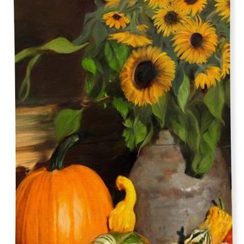 Bountiful Harvest - Floral Painting - Bath Towel