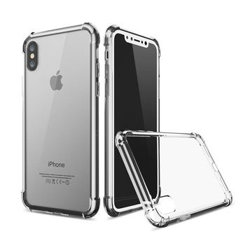 For iPhone X iphone8 8plus 7 7plus 6 6s 6plus Case Transparent Crystal Clear Silicone Protection Cover For Apple iPhone5 5s SE S