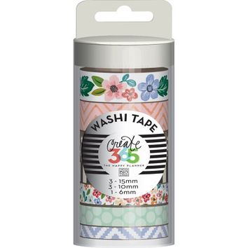 Create 365 Washi Tape 7/Pkg-Fresh Floral - Walmart.com