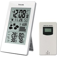 Taylor Digital Weather Forecaster With Barometer & Alarm Clock