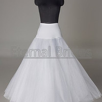 wedding dress accessories/A-line  petticoat/underskirt/slip/crinoline/one hoop with 2 layers tulle