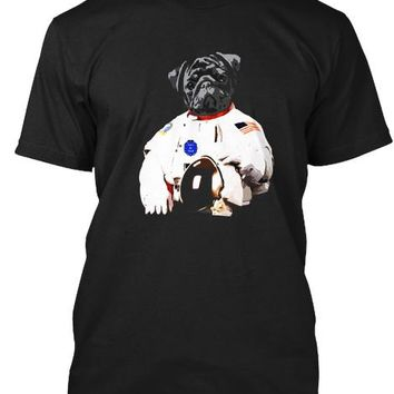 Pug Astronaut Space Dog T Shirt