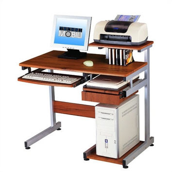 Compact Home Office Computer Desk in Woodgrain Finish