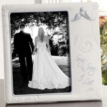 "2 Wedding Picture Frames - 8 "" H X 8 "" W"