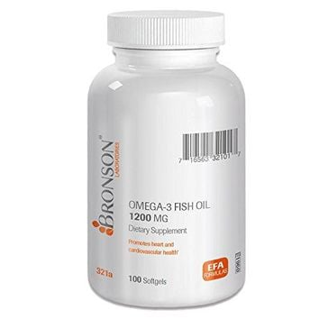 [Pack of 2] Bronson Labs: Omega-3 Fish Oil 1200 mg. 100 Softgels Each