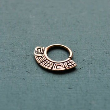 Egyptian septum ring for pierced nose / 18g / Ethnic septum / Septum jewelry / Nose jewelry / Tribal body jewelry / Belly dance jewelry
