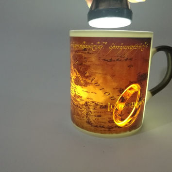 the lord of the rings mugs middle earth bone china mug bone porcelain coffee cups heat changing color heat reveal magic tea Cup