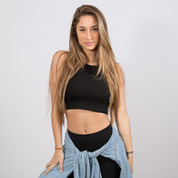 Lil Rib Crop Black | Disruptive Youth