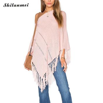 Pink Pullover Lightweight Poncho