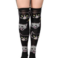 Garter Socks - Kitty Rocks