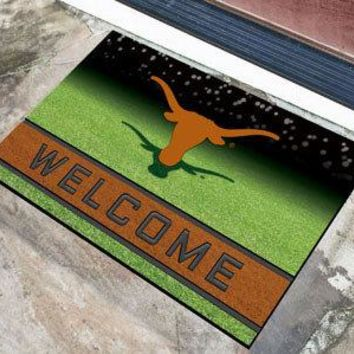 Texas Longhorns Door Mat 18x30 Welcome Crumb Rubber