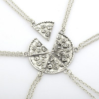 1pc or 6 pcs Pizza Necklace, Friendship Gifts