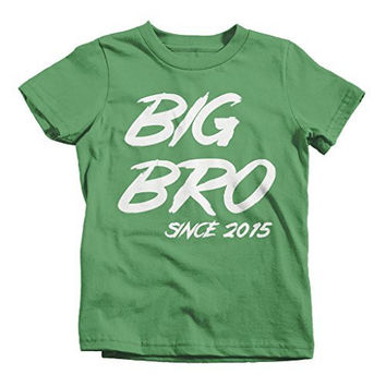 Shirts By Sarah Boy's Big Bro Since 2015 Personalized T-Shirt Brother Promoted To