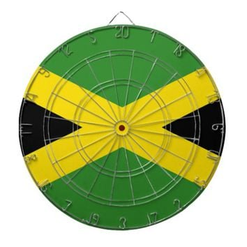 Dartboard with Flag of Jamaica