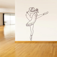 Wall Decal Vinyl Sticker Decor Art Bedroom Design Mural Nursery Ballet Ballerina Dancer (z1636)