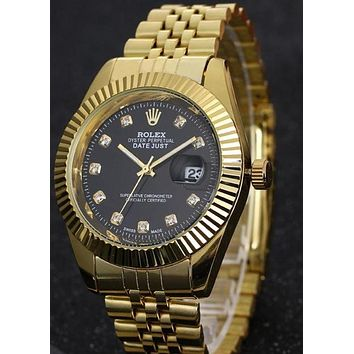 Rolex men's fashion quartz watch F