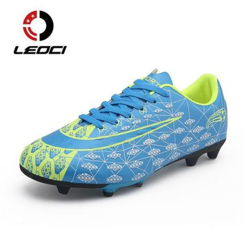 Men Boys Kids Football Shoes Sneakers Outdoor Lawn Long Spikes Superfly Futsal Soccer Boots Cleats Trainers zapatillas de futbol