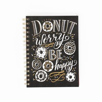 Donut Worry Spiral Notebook