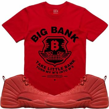 Jordan Retro 12 Gym Red Sneaker Tees Shirt - BIG BANK RK