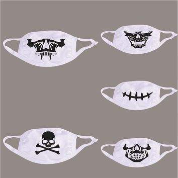 Halloween Face Mask Fashion Winter Cotton Funny Auti-Dust Fashion All Saints' Day gift Kawaii Mouth-muffle Half Face Mask