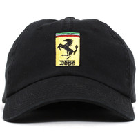 Enzo Unstructured Hat Black