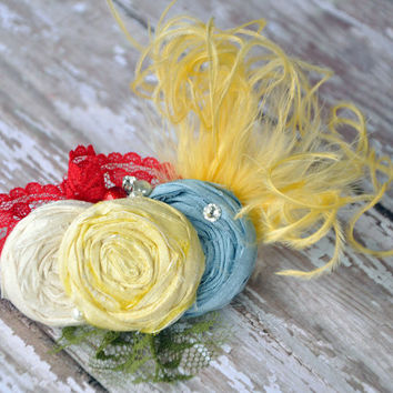 Ema boutique couture headband OR clip - M2M Matilda Jane Wonderful Parade