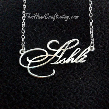 Pretty Little Liar Script Style Name Necklace by ThaiHandCraft