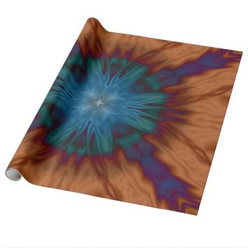 Copper Blues Wrapping Paper