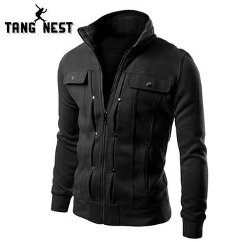TANGNEST Handsome 2017 Top Slim Men Sweatshirt Casual Men Tracksuits Comfortable Popular For Male 5 Colors Asian Size MWW598
