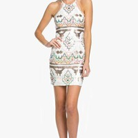 Anika Geo Sequined Dress