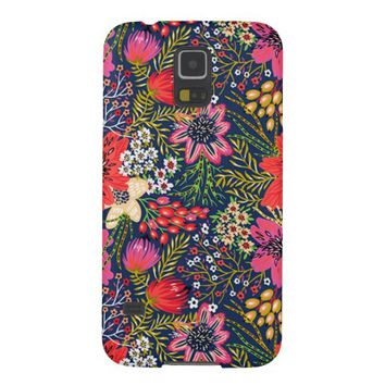 Vintage Bright Floral Pattern Galaxy S5 Case