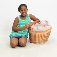 Cupcake Digital-Print Junior Beanbag Chair at Brookstone—Buy Now!