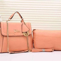 ONETOW Dior Women Two piece Bag With Metal Chain Crossbody Satchel Shoulder Bag H-YJBD-2H Tagre?