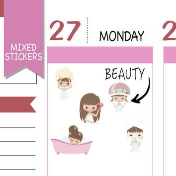 Mixed Beauty Stickers Wellness Stickers Planner Stickers Emely Stickers Cute Stickers Decorative Stickers Functional Stickers NR1576