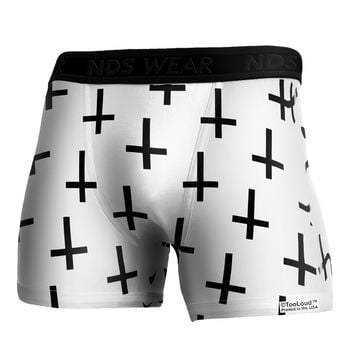 Inverted Crosses Boxer Brief Dual Sided All Over Print