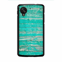 Teal Wood Nexus 5 Case