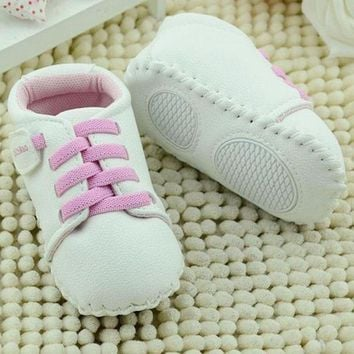 Newborn Baby Shoes Toddler For Infant Kids Boy Girls Soft Sole PU Leather Pre walker S