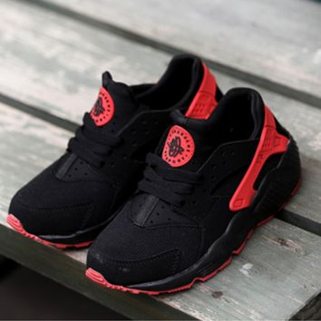 """NIKE""AIR Huarache Running Sport Casual Shoes Sneakers red-black-white"