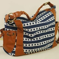 Strip Wave point Shoulder bag handbag