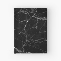 'black marble' Hardcover Journal by no1phantrash