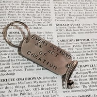 Hamilton The Musical My Shot Stamped Charm Keychain