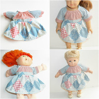 """Cabbage Patch 16"""" KIDS Doll Clothes,  16"""" CPKKids Doll Clothes, 15"""" Bitty Baby too  or 18"""" pink blue peasant dress Adorabledolldesigns"""