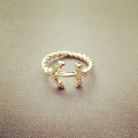 Anchor ring lovely pretty cute adorable jewelry by IMSMI on Etsy