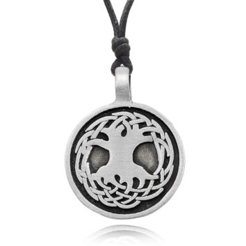 Tree of life Silver Pewter Charm Necklace Pendant Jewelry