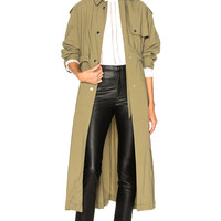Isabel Marant Lawney Trench Coat in Khaki | FWRD