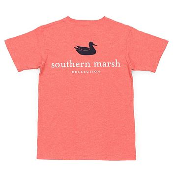 Youth Authentic Tee in Washed Red by Southern Marsh