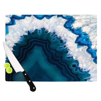 "KESS Original ""Blue Geode"" Nature Photography Cutting Board"