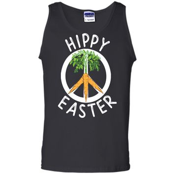 Funny Hippy Easter T-shirt Boho Peace and Carrots Gift Shirt Tank Top